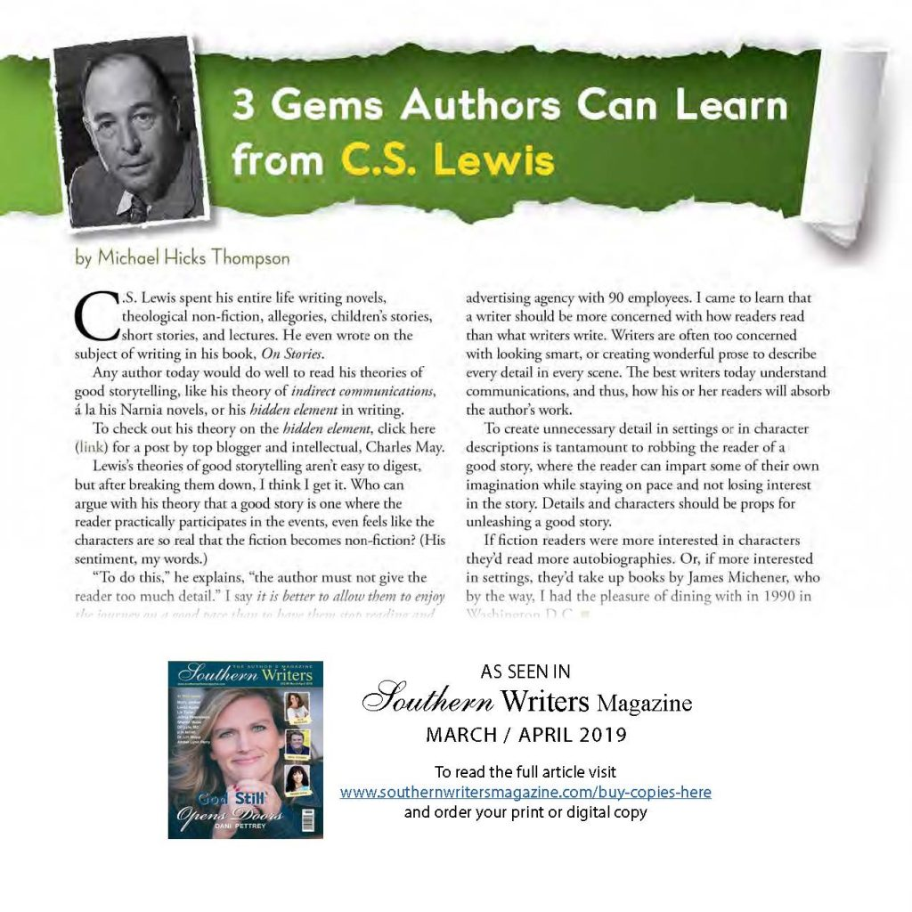 3 Gems Authors can learn from C.S. Lewis